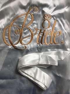 Bridal White Satin Robe