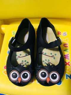 Mini Melissa Replica Black Shoes Owl design
