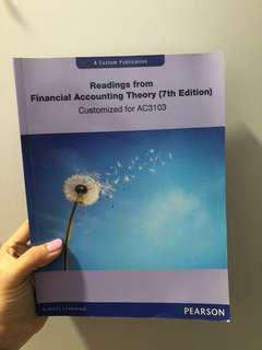 🚚 AC3103 Readings from Financial Accounting Theory (7th Edition)