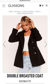 Glassons Double breasted coat size 16