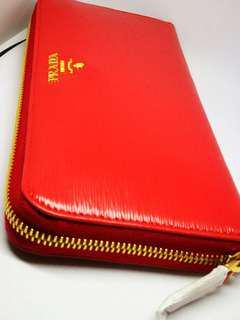PRADA long wallet round fastener
