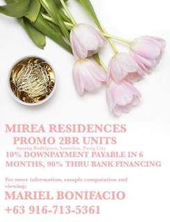 PASIG RFO CONDO - PROMO 2BR Mirea Residences by DMCI Homes