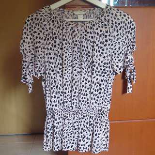 H&M HnM Leopard Soft Pink Top
