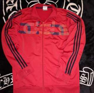 🚚 古著 Adidas 電繡LOGO 重疊LOGO 棉質 透氣 立領 三線條 口袋拉鍊 休閒外套 運動外套