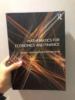 🚚 Mathematics for Economics And Finance by Michael Harrison and Patrick Waldron