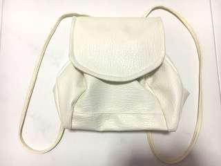 Small White Leather Bag (PRICE REDUCED)
