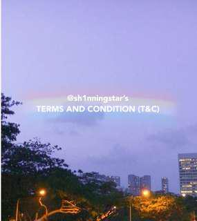 Terms and condition ( T&C )