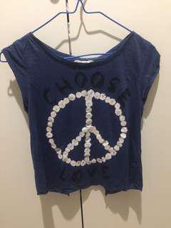 Bershka Daisy peace top