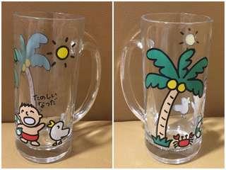 ** 分享 ** Sanrio Minna No Tabo 大口仔 1990 年 啤酒杯 (Made in Japan)