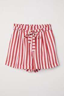 H&M striped short pants