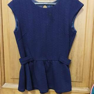 NyLa Navy Peplum Top