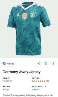 🚚 2018 germany world cup jersey