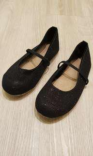 Black Color with Shiny surface Walking Shoes for Girls
