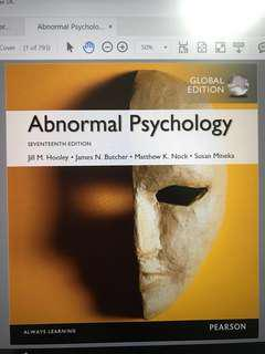 NUS PL3236 Abnormal Psychology 17th ed (e-textbook)