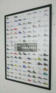 Framed Heima Sneakers Poster
