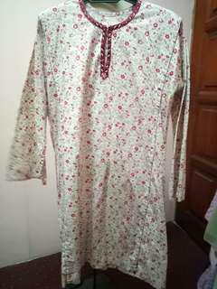 Baju Kurung Cotton bermanik