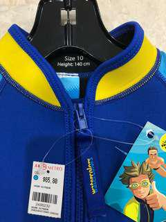 Kids swimwear: thermal suit