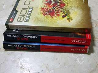 Biology, Chemistry, Physics Textbooks