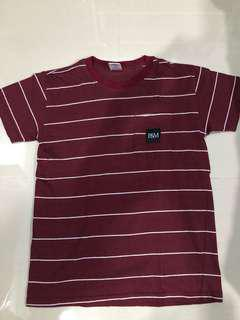 Pestle and Mortar Stripe Tee Burgundy #list4sb