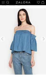 Folded & Hung chambray off-shoulder