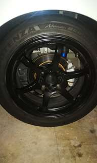"""16"""" Advan Rg2 Replica with re003 tyres"""