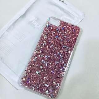 🚚 iPhone 7 Pink Glitter Case