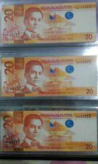 Solid number Banknote SET Philippines piso