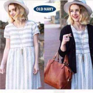 Stripes Summer Dress - Blue