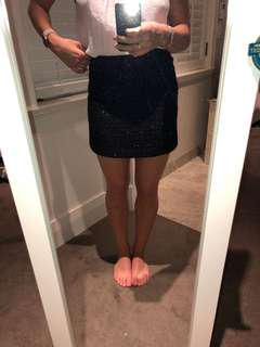 Black skirt with subtle sparkles throughout