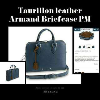 Louis Vuitton Armand Taurillon leather Briefcase PM 今年最新款真皮商務男公事包