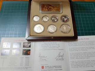 2000 sterling silver priif coin set