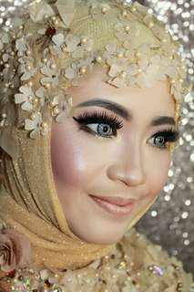Make up + hairdo + hijab