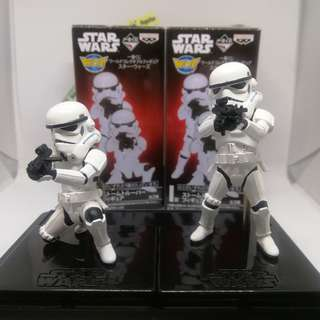 (set of 2) WCF Disney Star Wars Stormtrooper figures