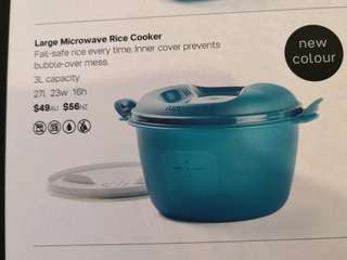Tupperware Large Microwave Rice Cooker