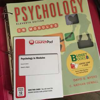 Psychology 11th Edition by Myers