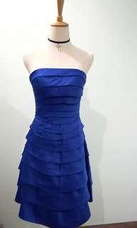 Blue Tube Layer Dress