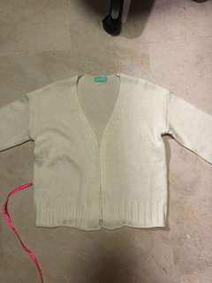 [3 FOR $10]cream knitted cardigan