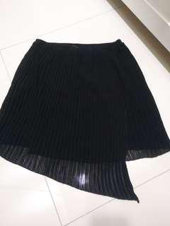 Black Pleated Skirt MNG