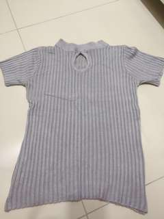 Knitted Top (grey color)