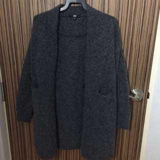 Uniqlo Melange Wool Coat