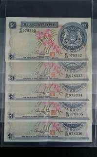 SG Orchid Series $1 × 5pcs - Running Nos.