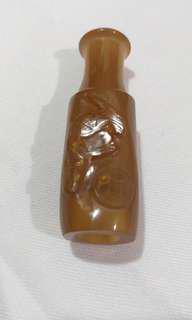 清代、甜糖瑪瑙烟嘴55mm,17mm,(有意、請来訊詢價、抱歉)