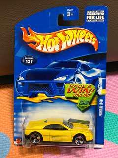 Hotwheels Ferrari 348 Yellow