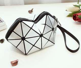 Geometric Cosmetic Bag (Grey)
