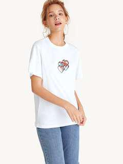 Holographic Hearts Graphic Tee
