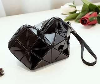 Geometric Cosmetic Bag (Black)