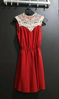 Laced Red Dress #CNYCS #CNYRED