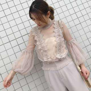 🚚 韓國夢幻蕾絲2件套/全新/伴娘禮服