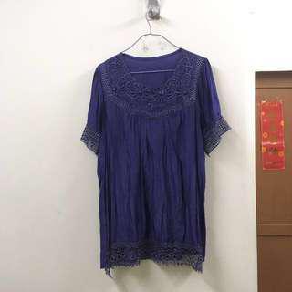 XL 紫色貼石上衣