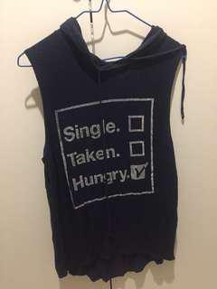 Single taken hungry tank top